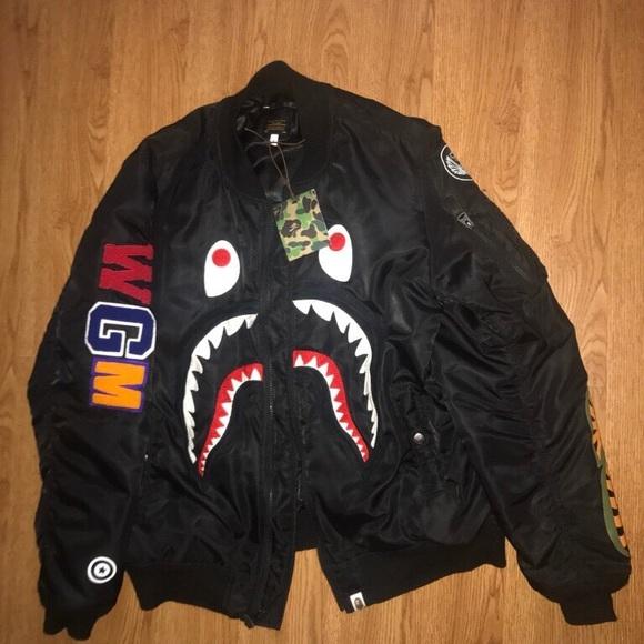 ffe5bd92 Bape Jackets & Coats | A Bathing Ape Shark Zip Up Jacket | Poshmark